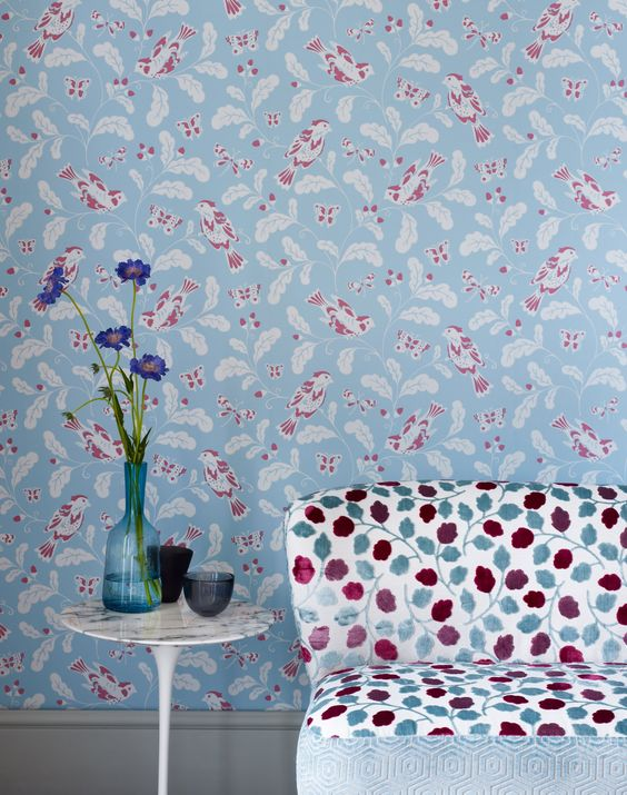 Jane Churchill papel pintado